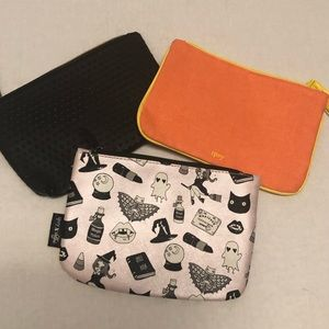 Bundle lot 3 makeup cosmetic bags Ipsy